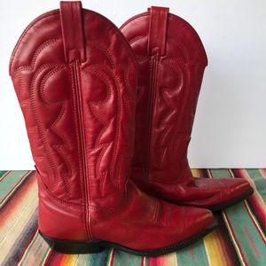 Vittorio Ricci Red Cowboy Boots - Sz 6.5